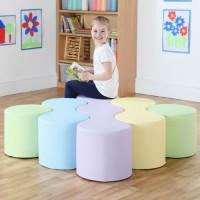 Pastel Early Years Modular Seating