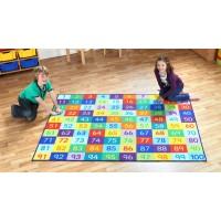 Rainbow 1-100 Classroom Carpet