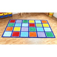Rainbow 3x2m Classroom Carpet
