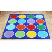 Rainbow Circle Placement Classroom Carpet