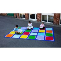 Large Rainbow Rectangular Outdoor Mat