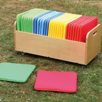 Rainbow Square Early Years Cushions and Trolley