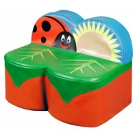 Two Seat Ladybird Early Years Sofa