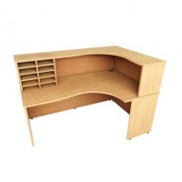 Wooden Reception Desk Unit
