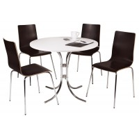 Loft Round Meeting Table and Chairs Set
