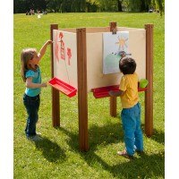 Early Years 4 Sided Outdoor Easel