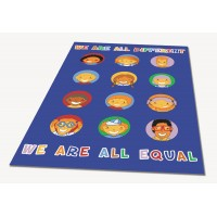 We Are All Equal Classroom Carpet