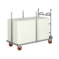 Rectangular Folding Table Storage Trolleys