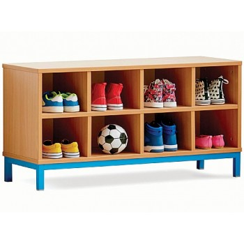 8 Compartment School Cloakroom Bench