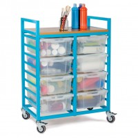 Mobile Deep Tray Storage Trolley