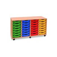 Four Column Shallow Tray Storage