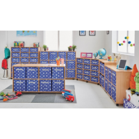 Mobile Jumbo Canvas Tray Storage Units