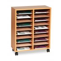Mobile Literature Sorter Unit - 20 Shelf