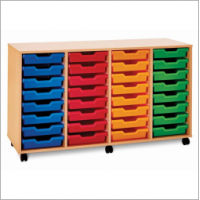 Pop Mobile 32 Shallow Tray Storage Unit