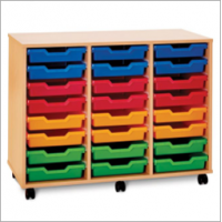 Pop Mobile 24 Shallow Tray Storage Unit