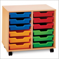 Pop Mobile 12 Shallow Tray Storage Unit
