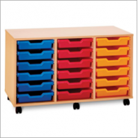 Pop Mobile 18 Shallow Tray Storage Unit