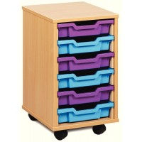 Single Column Shallow Tray Storage Unit