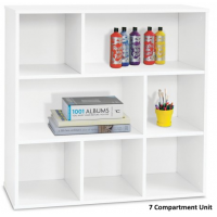 White Display Shelving Units