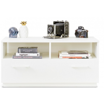 White Double Side Board Display Unit