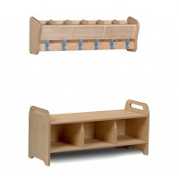 Wall Mounted Cloakroom Set
