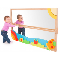 Pull Up and Play! Toddler Mirror