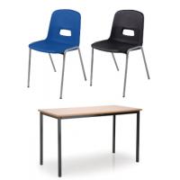 GH20 Chair MDF Edge Table Classroom Pack
