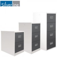 Silverline Two Tone Midi Filing Cabinets