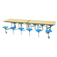 12 Seater Rectangular Mobile Folding Table Unit