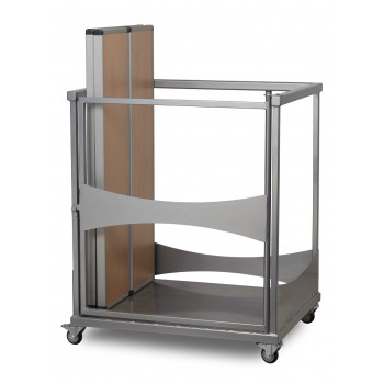 Fast Fold Rectangular Table and Bench Trolley
