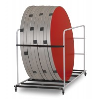 Fast Fold Round Canteen Table Trolleys