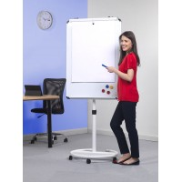Mobile Round Base Writing Board Easel