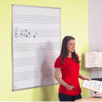 Music Stave Lined Whiteboards