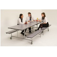 Rectangular Canteen Folding Bench Unit