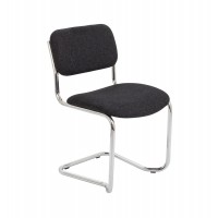 Chrome Upholstered Cantilever Chair