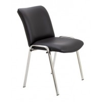 Pavilion Chrome Faux Leather Chair