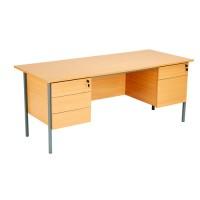 Eco 18 Double Pedestal Office Desk
