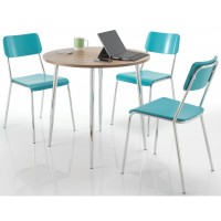 Ellipse Chrome Cafe Meeting Table