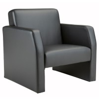 Face Leather Reception Armchair