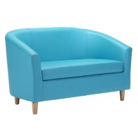Faux Leather Tub Sofas