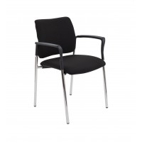 Florence Chrome Reception Armchair