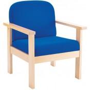 Juplo Wood Frame Reception Armchair