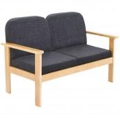 Juplo Wood Frame Reception Sofa