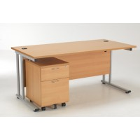 Start Rectangular Desk and Pedestal Bundle