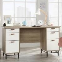 Avon Leather Handled Office Pedestal Desk