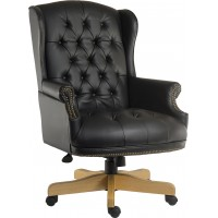 Chairman Noir Leather Executive Chair