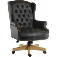 Chairman Noir Leather Executive Chair