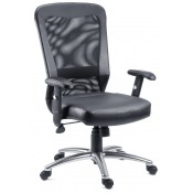 Breeze Leather Mesh Office Chair