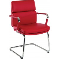Deco Faux Leather Visitors Chair