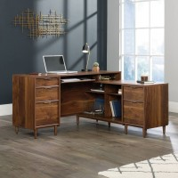 Clifton Place Luxury Walnut L-Shaped Office Desk